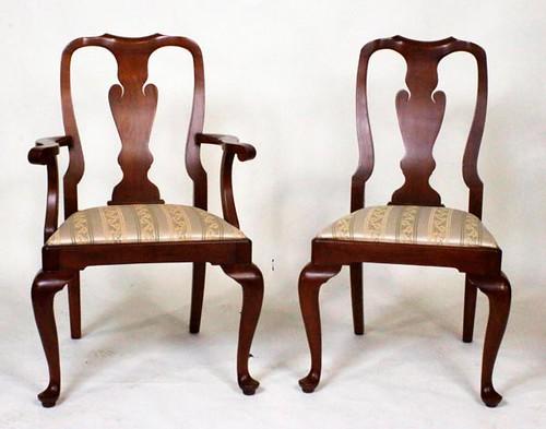 Set of 10 Henkel Harris Chairs Wild Black Cherry ($1,176.00)