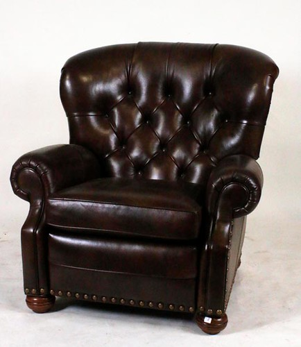 Ethan & Allen Leather Club Chair Recliner ($1,092.00)