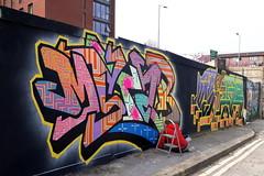 Street art Sheffield.. (Mike-Lee) Tags: streetartsheffield sheffield streetart april2019 artist painter spraycans graffiti