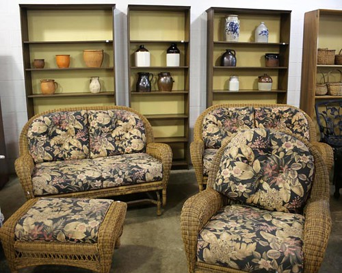 Brown wicker furniture set ($470.40)