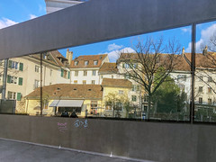 Old Town Reflection (Bephep2010) Tags: 2019 altstadt apple fahrrad fenster iphone iphone8plus reflektion schweiz solothurn supermarkt switzerland westringstrasse oldtown reflection spring supermarket window kantonsolothurn