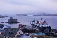 Isle of Lewis leaving Isle of Barra (Briantc) Tags: scottishborders westernisles barra isleofbarra isleoflewis kisimul castle