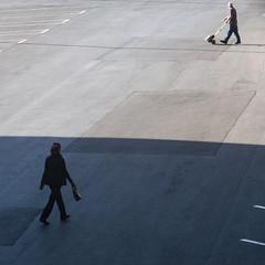 To and From (Sean Anderson Media) Tags: streetphotography shadow walking pedestrians airport lasvegasairport silhouette concrete gh4 panasonicgh4 cooketelekinicanastigmat4inchf45 cmountlens vintagelens cookelens fotodiox cmounttomftadapter lensadapter retrolens 4inchlens
