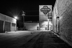 Lonesome Fox (atenpo) Tags: san joaquin valley central taft ca california fox theater theatre night blackwhite bw lonely spare