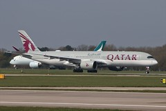 Qatar Airways Airbus A350-900 A7-ALX (Adam Fox - Plane and Rail photography) Tags: plane airplane aeroplane airliner jet commercial passenger transport aircraft manchester airport egcc cathay pacific