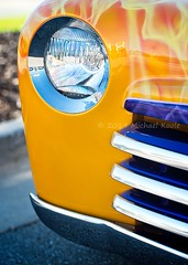 Visions Past - Cars & Coffee 2016-09-03 (Michael Koole - Vision Three Images) Tags: michaelkoole nikon d300 50mmf14d nikkor car automotive custom headlight grill carscoffee visionspast abstract chevrolet chevy