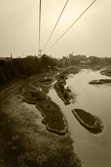 The Sun & The Smog (Triple_B_Photography) Tags: indonesia canon eos 7d 2018 taman holiday travel tourism cablecar above jakarta texture gritty smog smoke cables amusementpark