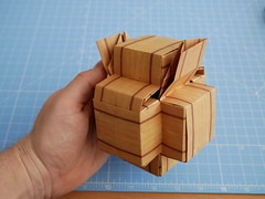 Hexapod assembly (ISO_rigami) Tags: modular origami 3d a4 hexapod eckhardhennig wood