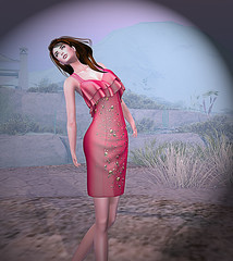 LuceMia - EVOLVE (2018 SAFAS AWARD WINNER - Favorite Blogger - MISS ) Tags: evolve apparel last hello pink green evolveapparellasthello dress sl secondlife mesh fashion creations blog beauty hud colors models lucemia