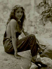 B Love (kevin63) Tags: lightner photo painting actress biboveralls 20thcentury 20s silentera bessie love old oilpastel vintage blackandwhite study