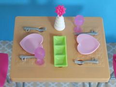 Dinner Table Set (BackToTheChildhood80) Tags: barbie doll mattel dinner table furniture play set