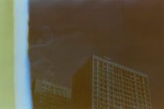 Apocalypse. [Doom] (Adrien GOGOIS) Tags: fujicolor 200 minolta xd7 double exposition building architecture line city street urban sky dark mysterious strange unusual exposure film camera manual focus lens vintage old classic legacy md rokkor 50 f14 50mm