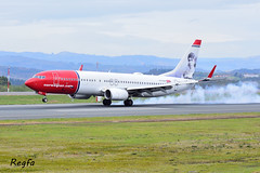 Santiago de Compostela (**REGFA**) Tags: lisboa desvio copenhague norwegian boeing737 santiago de compostela aena aeroplane aeropuerto