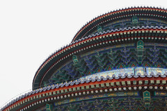 Temple of Heaven, Beijing, China (Thierry Hoppe) Tags: templeofheaven beijing china roof details architecture temple classic old wood structure wooden colour color colorful colourful overcast grey sky tientan heaven