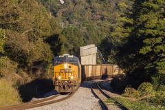 CSX E303 at Emerson (travisnewman100) Tags: csx train railroad freight unit coal empties golden hour e303 wa subdivision atlanta division emerson georgia