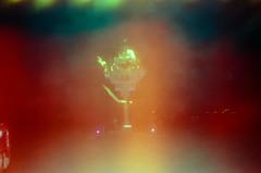 Torch (hiphopmilk) Tags: copyright©jaredyehwooehmoehfilms konica offroad 現場監督 zoom 35mm 135film film analog analogue jaredyeh hiphopmilk kodak travel us usa blackrockcity nevada burningman burners camp lightleak lightleaking night party fire burning torch playa