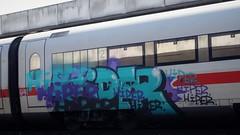 Graffiti (Honig&Teer) Tags: honigteer hannover graffiti db deutschebahn spraycanart steel aerosolart eisenbahngraffiti railroadgraffiti train treno trein traingraffiti trainspotting trainart urbanart panel bombing benching vandalismus
