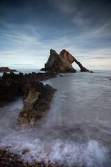 Bow Fiddle Rock (PeskyMesky) Tags: aberdeenshire portknockie bowfiddlerock landscape scotland water longexposure sea ocean canon canon5d eos