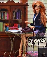 Just another workday ... (stashraider) Tags: pashapasha rein ball jointed art doll original 54cm wig megfashiondoll outfit elenpriv