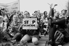 Stop the Ecocide (ƒliçkrwåy) Tags: extinctionrebellion climatechange london protest waterloo waterloobridge street eco ecocide environment mono monochrome blackandwhite