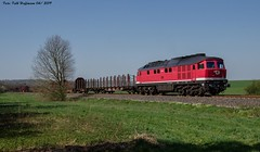 232 690 EBS bei Herzberg 19.04.2019 (Falk Hoffmann) Tags: diesellok eisenbahn bahnhof güterzug ludmilla ebs dr reichsbahn br132 br232