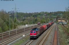 232 690 EBS Herzberg 19.04.2019 (Falk Hoffmann) Tags: diesellok eisenbahn bahnhof güterzug formsignal ebs ludmilla dr reichsbahn br132 br232