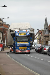 T200ABY DAF XF of Abbey Transport hauling large boat (Ian Press Photography) Tags: boat boats suffolk escort large outsize load t200aby daf xf abbey transport hauling