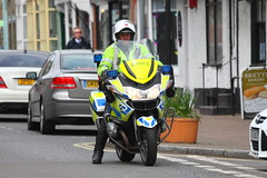 BMW motorbike of Suffolk Police in Needham Market (Ian Press Photography) Tags: boat boats suffolk escort large outsize load t200aby daf xf abbey transport hauling bmw bikes bike motorbike biker motorbikes police 999 emergency service services officer officers bikers needham market