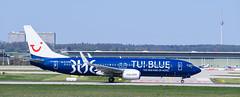 Boeing 737-8K5 TUI (TUI Blue Livery) (Daniel Powalka) Tags: flugzeug stuttgart flughafen tui landebahn outdoor
