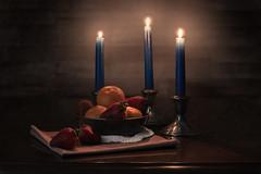 still life rs-3026 (P.E.T. shots) Tags: stilllife fruit orange strawberry candle glow flash strobe
