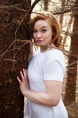 Tree Hug (colinmccann884) Tags: ginger tree forest model photoshoot canon 5dmkii