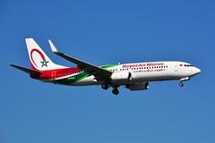"(ORY) RAM Boeing 737-800 CN-ROS ""New livery""Landing runway 06 (dadie92) Tags: orly lfpo ram royalairmaroc boeing b737 b737800 cnros landing spotting aircraft airplane newlivery tanger nikon d7100 tamron sigma danieldanel"