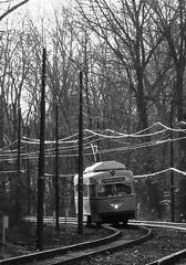 Boston (Mattapan High Speed Trolley Line) (Jean (tarkastad)) Tags: tarkastad tramway tram pcc unitedstates stadtbahn streetcar etatsunis usa lightrail lrt trolley strasenbahn bw boston