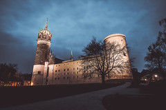 Abendstimmung Schloss und Schlosskirche Wittenberg - Deutschland   Evening mood with castle and castle church Wittenberg - Germany (DonSal_LE) Tags: abendstimmung evening mood schloss castle schlosskirche church luther luthers wittenberg germany