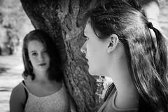 two beauties (gotan-da) Tags: model modelo female femme frau beauty natural brunette sensual makeup eyes lips girl woman portrait ritratto retrato canon belle bellezza donna blackwhite schwarzweiss noiretblanc blackandwhite bw monochrome