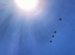 Flying in formation (Ports Photography) Tags: f35 airforce airplane aircraft usaf lukeafb approach sun bluesky soundoffreedom arizona elmirage