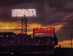 Duffy at Bat in Fenway Park (Rusty Russ) Tags: fenway park boston red sox sunset lights coca cola duffy bat colorful day digital window flickr country bright happy colour eos scenic america world beach water sky nature blue white tree green art light sun cloud landscape summer city yellow people old new photoshop google bing yahoo stumbleupon getty national geographic creative composite manipulation hue pinterest blog twitter comons wiki pixel artistic topaz filter on1 sunshine image reddit tinder russ seidel facebook timber