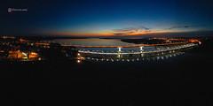 Barra Santa Lucia (Marcelo Campi Amateur photographer) Tags: harbor bay santalucia barra night exposure aerialphotography sunset twlight
