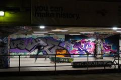Making history (cam-pics) Tags: nikon d5100 skateboard skateboarding jump motionblur motion street streetphotography streetfotography strase london evening nightscene grafitti youcanmakehistory uk gb unitedkingdom greatbritain