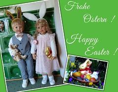 Frohe Ostern ! / Happy Easter ! (ursula.valtiner) Tags: puppe doll luis bärbel künstlerpuppe masterpiecedoll ostern easter osterhase easterbunny froheostern happyeaster