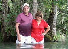 Florida river scenic (clarkfred33) Tags: nature scenic river trees florida water wade wet wetadventure wetlook couple wetclothes rainbowriver senior