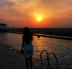 Farewell to the sun (tarun_beck37@yahoo.co.in) Tags: girl figure nature dusk evening candid
