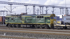 Locomotive 8037 in Greentrains livery operated by QUBE Logistics (Paul Leader - Paulie's Time Off Photography) Tags: 80class diesellocomotive enfieldyardnsw greentrainslivery locomotive8037 qubelogistics 8037 railpage:class=111 railpage:loco=8037 rpaunsw80class rpaunsw80class8037 nsw newsouthwales australia olympus olympusem10 paulleader trainspotting train locomotive loco engine diesel railway rail railroad railtransport transport transportation freighttrain freight