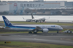 JA898A B787-9 Dreamliner and JA51AN B737-800 ANA (JaffaPix +5 million views-thanks...) Tags: ja898a b7879 dreamliner ana allnippon boeing 737 b737 b738 jaffapix davejefferys tokyoairport japan aircraft airplane aeroplane aviation flying flight runway airline airliner hnd haneda tokyohaneda hanedaairport rjtt planespotting