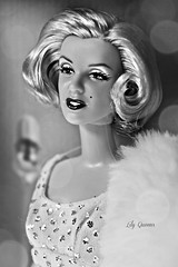 Tag Game:Black and White (♥ Lily Queens ♥) Tags: tag game black white marilyn monroe doll mattel barbie
