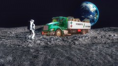 Who says there's no oxygen on the moon? (Fotofricassee) Tags: astronaut moon oxygen earth truck