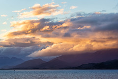 Leaving Ushuaia #2 (LauriNovakPhotography) Tags: landscape sunset beaglechannel water mountains sky antarctica oneocean argentina ushuaia clouds