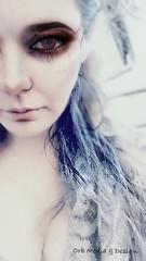 Half Human (Gypsy_Orb) Tags: portrait human vampire postprocess female experimental surreal surrealism imagine transform create orbmd orbmediadesign light life fantasy face eyes faded melbourne photography deepdream dreaming