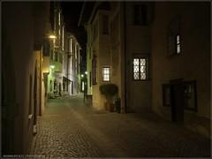 Alone in the Dark (Maximilian Busl) Tags: chiusa trentinoaltoadige italien travel night distagon available light atmosperic hasselblad