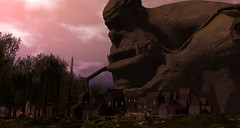 FF-Trollhaugen-1 (S76253) Tags: secondlife second life landscape fantasy sunset large giant big troll statue